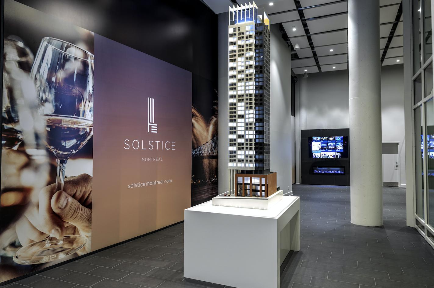 Tour SolsticeMontréal: ouverture du bureau des ventes